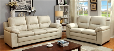 Parma Contemporary Ivory Color Sofa Group by Furniture of America CM6324