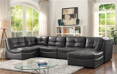 Libby 6 Piece Sectional & Ottoman Set by Furniture of America CM6456