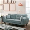 Plush Light Teal Upholstered Sofa