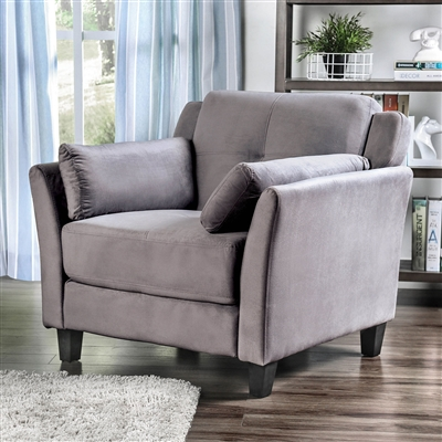 Contemporary Gray Flannelette Upholstered Chair
