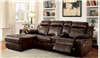 Hardy Brown Leatherette Reclining Sectional
