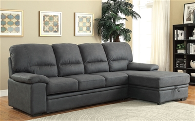 Contemporary Gray Sleeper Sectional