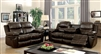 Listowel Brown Leather Reclining Sofa