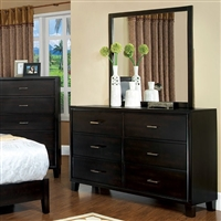 6 Drawer Dark Espresso Finish Dresser From The Enrico Collection
