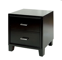 Enrico Modern Dark Espresso 2 Drawer Nightstand