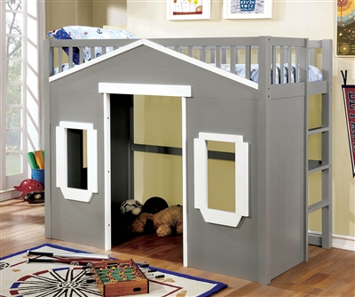Eileen House Theme Twin Loft Bed CM7132