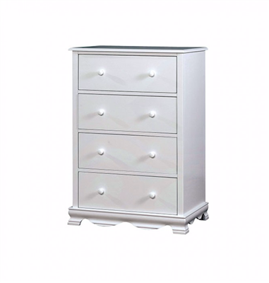 Dani Collection White Finish Chest CM7159