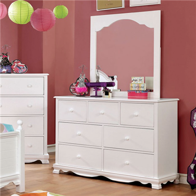 White Cottage Style Youth Dresser