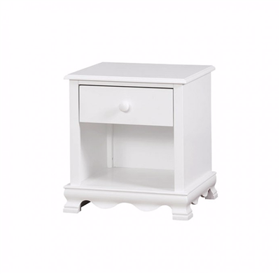 Dani Collection White Finish Nightstand CM7159