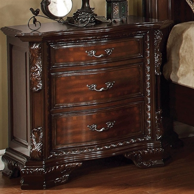 Bellefonte Collection Borque Style Brown Cherry Finish Nightstand