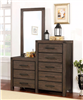 Rexburg Wire-Brushed 8 Drawer Chest & Mirror Set