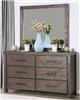 Rustic Brown Finish Dresser