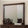 Rustic Brown Finish Dresser Mirror