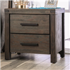 Rustic Brown Finish 2 Drawer Nightstand