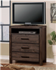 Rustic Brown Finish Media Chest