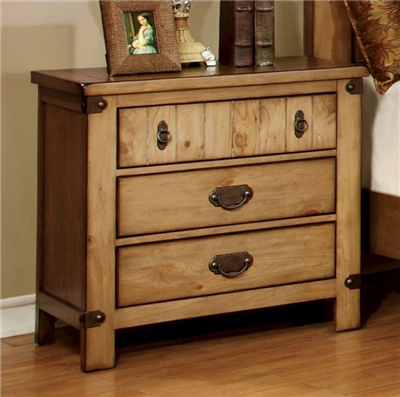 Pioneer Cottage Style Nightstand in Weathered Elm