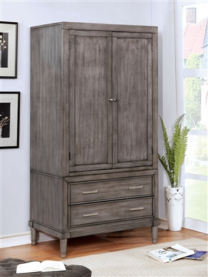 Stunning 2-Drawer + 2-Door Transitional Style Armoire