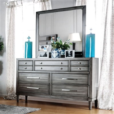 Stunning 9-Drawer Transitional Style Dresser