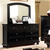 Castor Collection Black 7 Drawer Dresser with Bun Feet