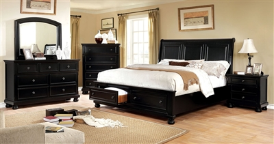 Castor Rustic Contemporary King Storage Bed