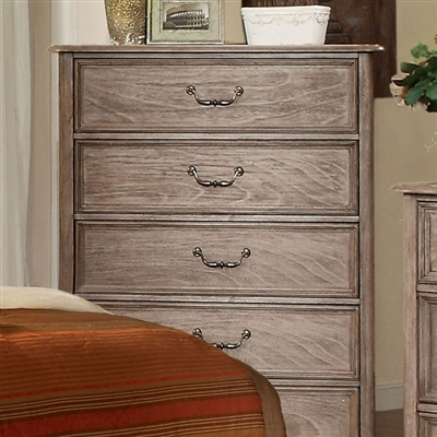 Belgrade Collection Rustic Natural Tone 5 Drawer Chest