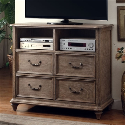 Belgrade Collection Rustic Natural Tone Media Chest