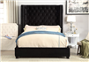 Mirabelle Black Fabric Upholstered Bed