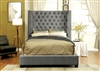 Mirabelle Contemporary Upholstered Bed