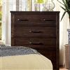 Bianca Farmhouse Style Dark Walnut Finish Chest