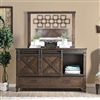 Bianca Farmhouse Style Dark Walnut Finish Dresser