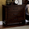 Bianca Farmhouse Style Dark Walnut Finish Nightstand