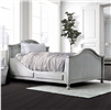 Lovis Light Gray Camelback Design Platform Bed