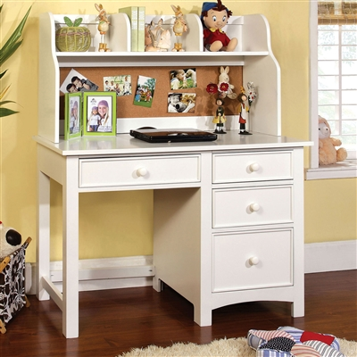 Transitional Style Youth Desk with Hutch Available in 4 Finishes