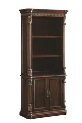Union Hill 3 Tier Bookshelf with 2 Drawer Cabinet