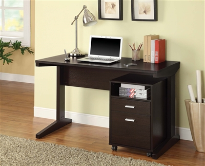 Donte 2-Piece Desk Set with Rolling File Cabinet