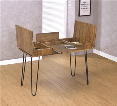 Jerrod Rustic Amber Finish Desk w/ Flip Up Storage