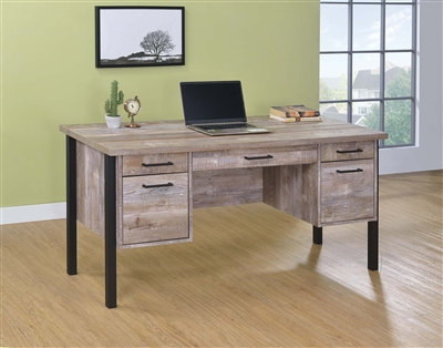Alton Weathered Oak Finish Writing Desk