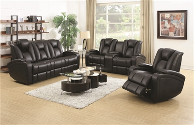 Black Power Reclining Theater Seating Group
