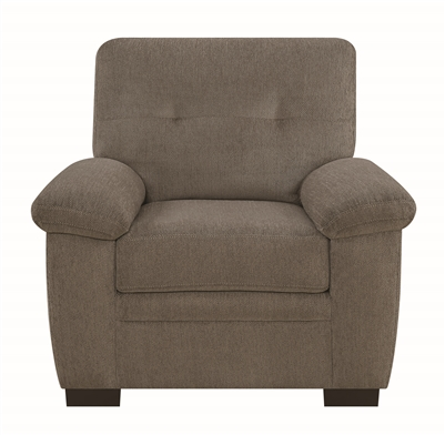 Walter Oatmeal Color Casual Chenille Upholstered Chair