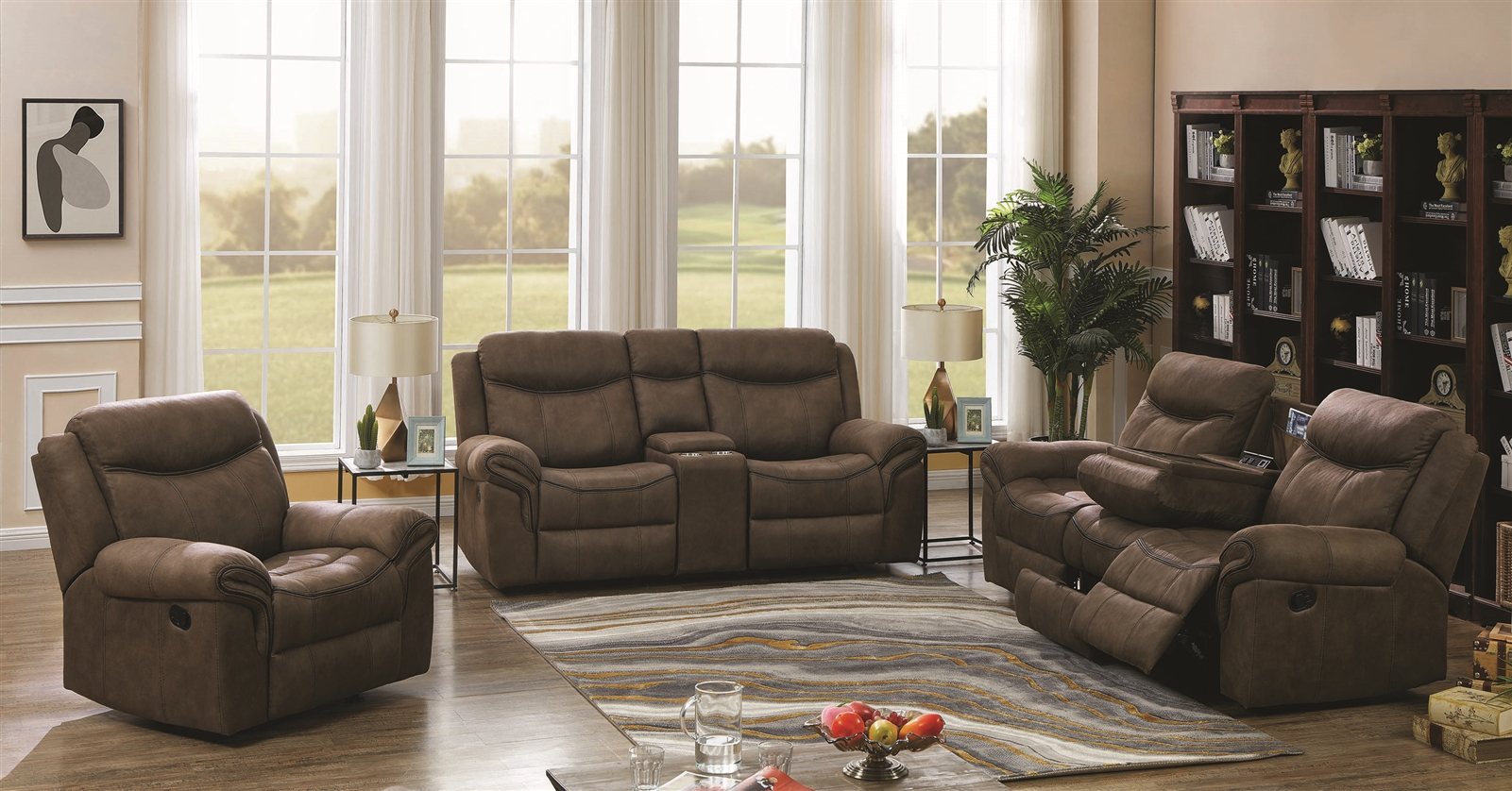 Macchiato Performance Leatherette Wall-Hugger Reclining Sofa
