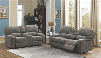 Power Reclining Performance Chenille Sofa