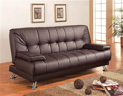 Rhine Brown Leatherette Sofa Bed