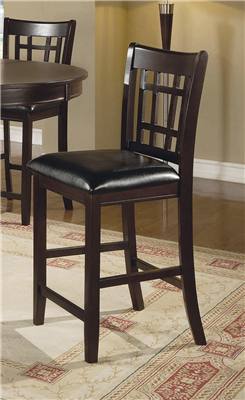 Gavin Espresso Counter Height Lattice Back Chair (Set of 2)