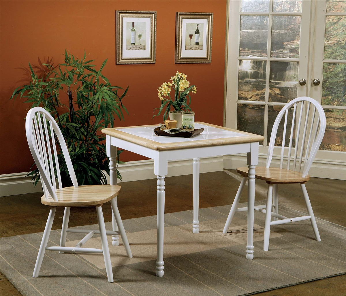 Darla 3 Piece Country Style Dining Set