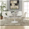 High Gloss White Finish 5 PIece Dining Set