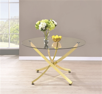 Armand Contemporary Gold Asterisk Design Table
