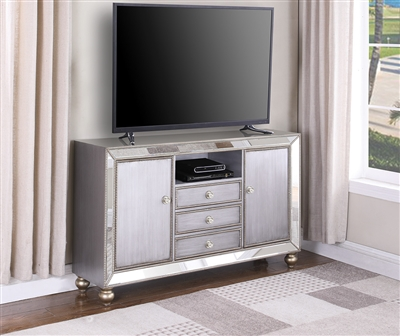 Mirrored TV Console