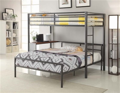 Twin-over-Twin Workstation Loft Bed