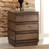 Rustic Style 3 Drawer Nightstand
