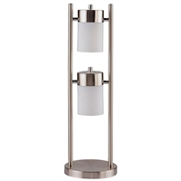 Contemporary Table Lamp With 2 Adjustable Swivel Lights